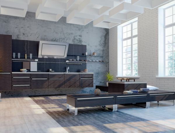 Aranżacja nowoczesnego, minimalistycznego wnętrza