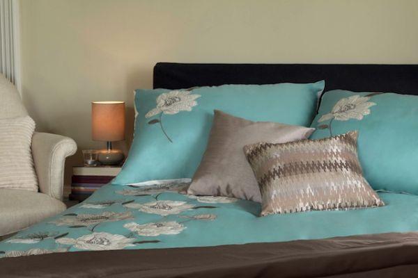 Sypialnia nastrojona jesienią