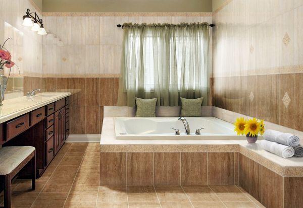 Beże i brązy – naturalne aranżacje łazienek