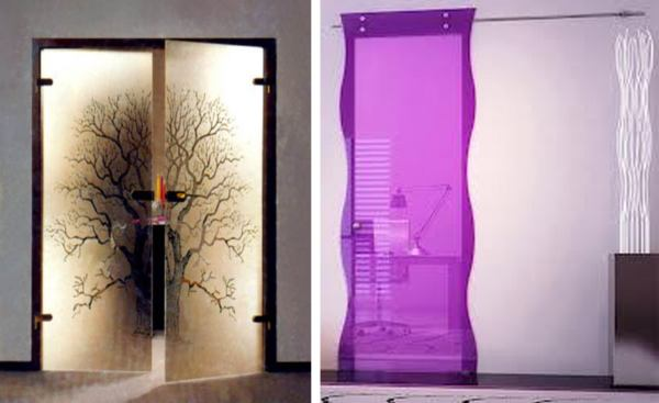 Niestandardowe drzwi ze szkła