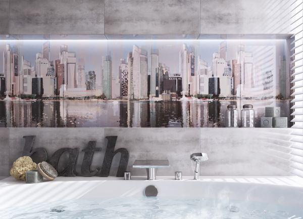 Wielkomiejskie aranżacje łazienek
