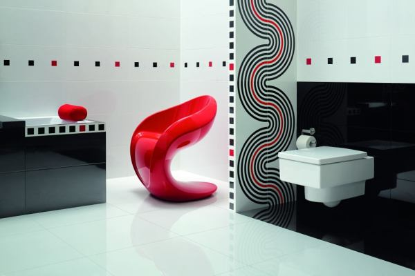 Aranżacje łazienek: esy-floresy i zabawa geometrią