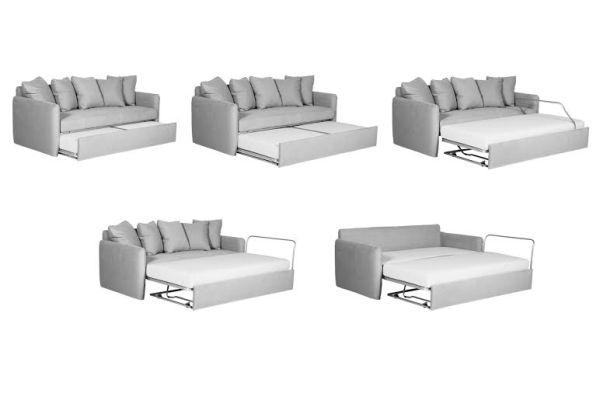 Sofa z funkcją spania w dwóch odsłonach